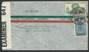 MEXICO 1941 censor airmail cover via New York to London....................10611
