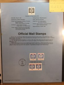 US #SP950 / #O145, O147, O148 Official Mail Stamps