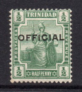 Trinidad 1910 Official ½d SG O10 mint