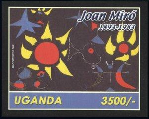 Uganda 1808-1809,MNH. Paintings by Joan Miro,1893-1983.2003.
