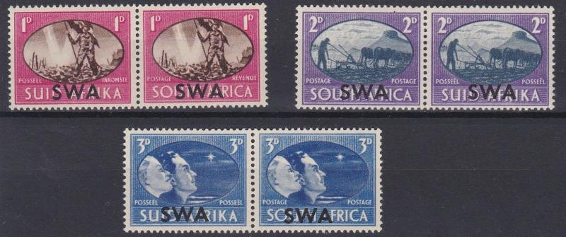 SOUTH WEST AFRICA  1935      S G  131 - 133  VICTORY  SET  MH