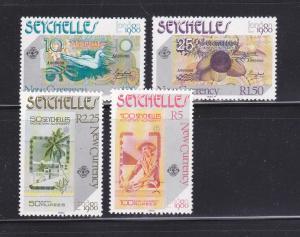 Seychelles 448-451 Set MNH London Stamp Exhibition