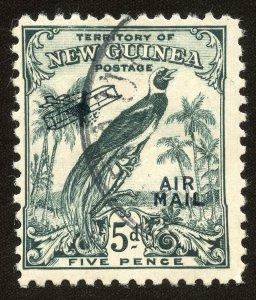 New Guinea airmail stamp Scott# C36, SG 196, Used, Fine, 1932