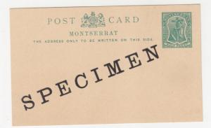 MONTSERRAT, Postal Card, 1903 1/2d. Green, SPECIMEN overprint.