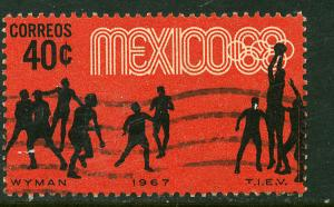 MEXICO 982, 40c Basketball 3rd Pre-Olympic Set 1967 Used(641