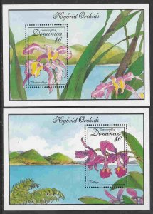 Dominica #1675-76 s/sheets F-VF Mint NH ** Orchids