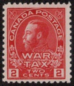 CAN SC #MR2 MNH 1915 2c War Tax Stamp CV $65.00