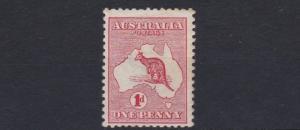 AUSTRALIA  1913 - 14  S G 2  1D  RED MH