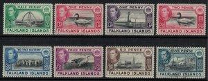 Falkland Is. #84-5B,6A-7,8-90*u  CV $20.90