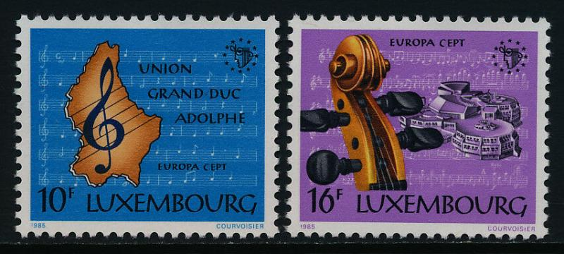 Luxembourg 729-30 MNH EUROPA, Luxembourg Music School
