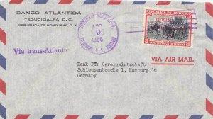 Honduras 8c Surrender of Granada Overprinted Official and Overprinted Habilit...