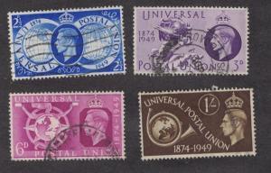Great Britain 276 - 279 - King George VI. Set Of 4.    Used.   #02 GB276s4