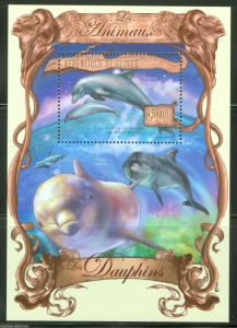 Guinea MNH S/S Dolphins Marine Life 2013