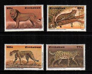 Zimbabwe  654 - 657  MNH cat $ 8.00