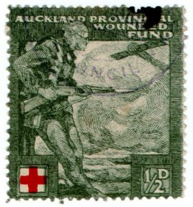 (I.B) New Zealand Cinderella : Auckland Provincial Wounded Soldiers Fund ½d