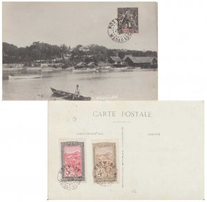 Madagascar Nossi-Be 1c Navigation and Commerce (reverse franked) and 4c and 5...