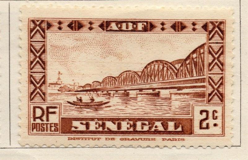 Senegal 1935 Early Issue Fine Mint Hinged 2c. 008102