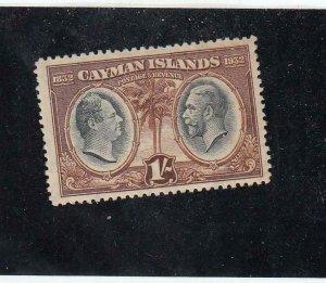 CAYMAN ISLANDS (MK6404) # 77 VF-MNH 1sh 1932 KING WILLIAM IV / GEORGE V  CV $20