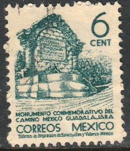 MEXICO 842 6c 1934 Definitive Wmk Gobierno...279 Used. F-VF. (924)