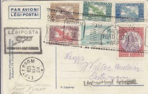 1924, Special Flt., AAMC-8, Budapest to Esztergom, Hungary (24272)