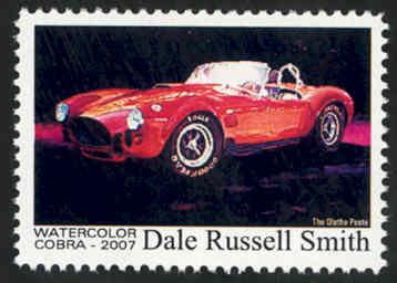 Automotive Art: Cobra ~ Artistamp - Cinderella - MNH