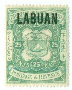 LABUAN #63, Mint Hinged, Scott $45.00