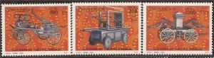 Somalia 2001 Antique Fire Engines - 3 Stamp Set - 27A-005