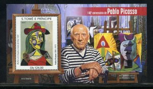 SAO TOME 2021 140th ANNIVERSARY OF PABLO PICASSO PAINTINGS S/SHEET MINT NH