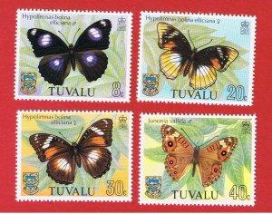 Tuvalu #146-149 MNH OG  Butterflies   Free S/H