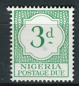 NIGERIA; 1961 early QEII Postage Due issue Mint MNH 3d. value