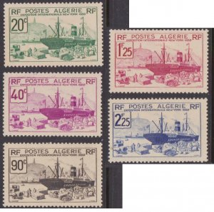 Algeria #126-30 MH set ship