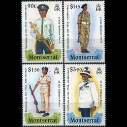 MONTSERRAT 1989 - Scott# 707-10 Mil.Uniforms Set of 4 NH