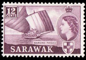 Sarawak Scott 200 Unused with hinge remnant.
