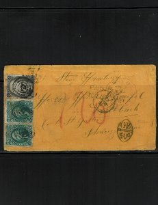 Scott #65, 68 x (2) and 73 x (2) Fine used on cover.