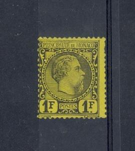 Monaco Scott 9 Mint hinged fine - blunt perfs (Catalog Value $1750.00)