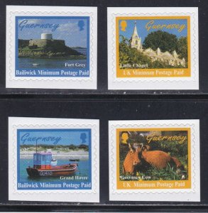 Guernsey # 625-628, Island Scenes, Self Adhesive, NH, 1/2 Cat.