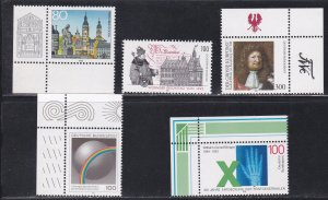 Germany # 1881-1885, Commemorative Issues for 1995, NH, 1/2 Cat.
