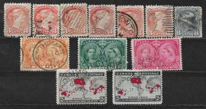 COLLECTION LOT OF 12 CANADA 1870+ STAMPS CV+ $54 CLEARANCE