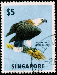 SINGAPORE SG77, $5 multicoloured, FINE USED, CDS.