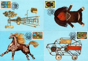 Ciskei - 1987 Homemade Toys Maxi Card Set