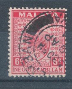 Malaya States - Negri Sembilan 1935 Coat of Arms 6c Scott # 25 Used