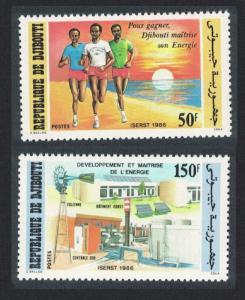 Djibouti ISERST Solar Energy Project 2v 1986 MNH SG#975-976