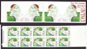 Palau-Sc#272b-Unused NH complete booklet-Palau Fruit Dove-Birds-1991-92-