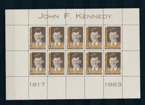 [36927] Dominican Republic 1964 Kennedy Sheet of 10 MNH
