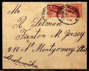 Germany 1904 cover to Trenton New Jersey