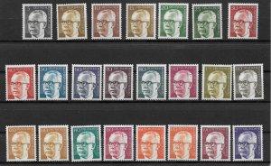 1970-3 Berlin 9N284-9N301 President Heinemann C/S of 23 MNH