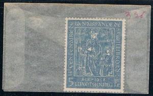 Luxembourg 336 Unused St Willibrord 1958 (L0308)