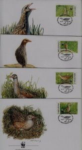 Moldova 370 FDC WWF-01/Birds
