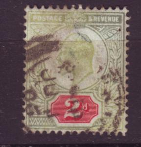 J19679 Jlstamps 1902-11 great britain used #130 king