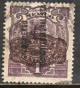 MEXICO 582 5cts ON 1ct CONST...+ BARRIL SURCHARGE USED. F-VF. (254)